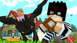 Download A THIEF TRIES TO STEAL FROM MY DRAGONS   Minecraft DRAGONS Little Kelly Video