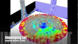 Download Large eddy simulation of an impinging jet at Reynolds number 23 000 with conjugate heat transfer Video