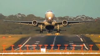 Download 3 BREATHTAKING Head-on Heavy Aircraft Takeoffs ● Melbourne Airport Plane Spotting Video