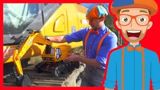 Download Learn about Diggers for Children with Blippi | Parts of an Excavator Video