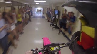 Download Dirt Bike ride through high school Senior Prank Video