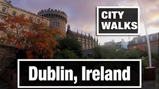 Download City Walks: Dublin, Ireland in the old town center Video