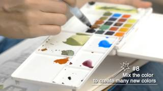 Download Sakura - How to Paint with Koi Water Colors Pocket Field Sketch Box & Pigma Video