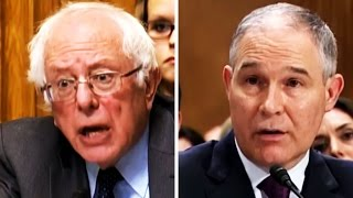 Download Bernie Sanders Vs. Scott Pruitt, Trump's RIDICULOUS, Climate-Change Denying Pick for Sec. of the EPA Video