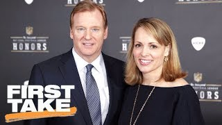 Download First Take reacts to Roger Goodell's wife making anonymous twitter account | First Take | ESPN Video