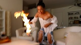 Download SHE ACCIDENTALLY SET IT ON FIRE!! Video