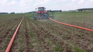 Download Sidedress of swine manure with dragline Video