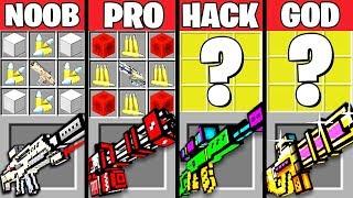 Download Minecraft Battle: SUPER GUN MOD CRAFTING CHALLENGE - NOOB vs PRO vs HACKER vs GOD ~ Animation Video
