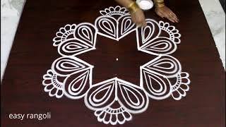 Download creative easy rangoli by Suneetha || beautiful kolam designs with 5 dots || Latest muggulu Video