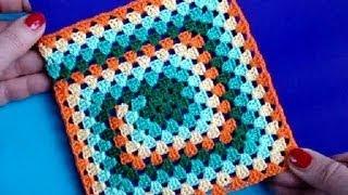 Download Вязание крючком Урок 252 Бабушкин квадрат Crochet granny square Video