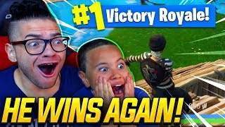 Download OMG NO WAY! MY 9 YEAR OLD LITTLE BROTHER REALLY *WON* HIS SECOND FORTNITE SOLO GAME! (HES TOO GOOD!) Video