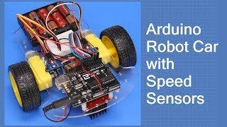 Download Arduino Robot Car with Speed Sensors - Using Arduino Interrupts Video