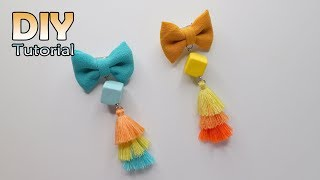 Download DIY - Tutorial Bros Dagu Tassel 3 warna | How to make mini bow with Rainbow tassel Video