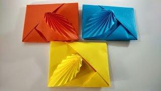 Download Como hacer un sobre de papel sin pegamento ni tijeras || Sobre de origami Video
