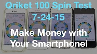 Download Qriket 100 Spin Test - Make Money with Your Smartphone Video