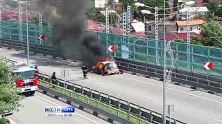 Download В районе Олимпийского парка Сочи сгорел автомобиль каршеринга Video