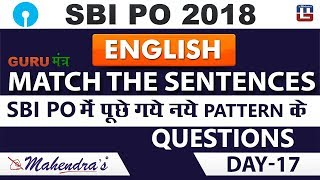 Download SBI PO 2018   Guru मन्त्र   Match The Sentence   English   Day 17   Live at 9 am Video