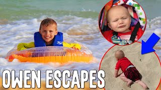 Download Owen Escapes at the Beach! || Mommy Monday Video