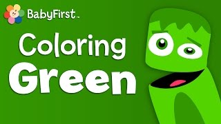 Download Leaves, Grass and Frogs   Green   Learn the Colors   Color Crew   BabyFirst TV Video