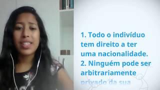 Download Bruna Caldas da Costa, Brazil, reading article 15 of the Universal Declaration of Human Rights Video