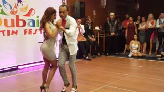 Download Dubai Latin Fest 2016. Kizomba artists dancing with each other. Video