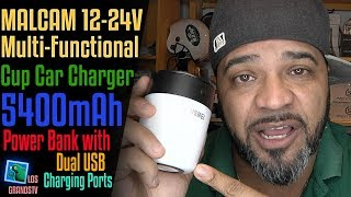 Download Malcam MultiFunctional Cup Car Charger 🔌🔋💡 : LGTV Review Video