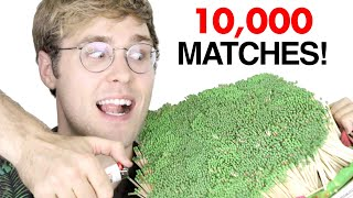 Download LIGHTING 10,000 MATCHES AT ONCE! Video