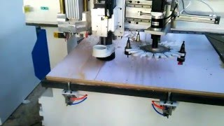 Download PHILICAM (Jinan Lifan)ATC cnc router machine with vertical holes drilling tools Video