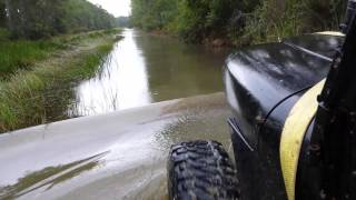 Download YJ JEEP deep water wading mud trail ride snorkel T Video