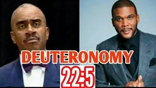 Download Gino Jennings Speaks on Tyler Perry | Deuteronomy 22:5 Video