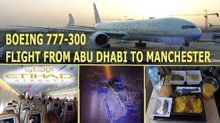 Download Flight From Abu Dhabi to Manchester - Boeing 777-300, Etihad 4K Video