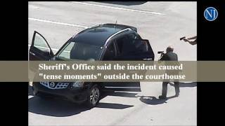 Download Flagler County deputies encounter suicidal man outside courthouse Video