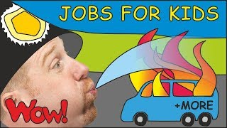 Download Jobs for Kids with Steve and Maggie | + MORE Magic Stories for Children | Speak with Wow English TV Video