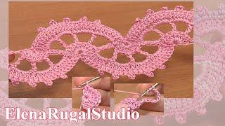 Download Crochet Lace Stitch Tape Tutorial 6 part 1 of 2 կոշիկի ժանյակ գոտի Video
