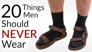 Download STOP Wearing This! | 20 Things Men Should NEVER Wear | Men's Fashion Faux Pas | Style DONTS Video
