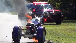 Download Quincy Hollow Motor Trike Fire | 9/25/16 | Levittown, PA. Video