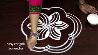 Download 5 dots creative kolam designs || easy rangoli || new muggulu patterns Video