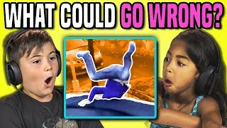 Download KIDS REACT TO WHAT COULD GO WRONG?! COMPILATION GAME Video