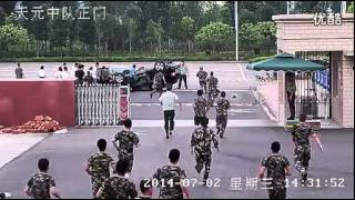 Download Traffic accident in front of the fire Department Video