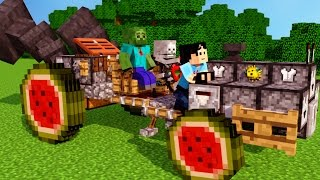 Download SkeleGUN & ZOMBIE! Sweet Ride Bro Minecraft Animation NikNikamTV Video
