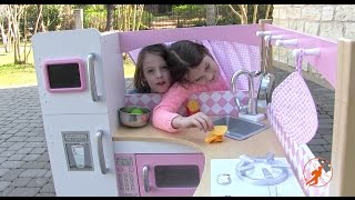 Download Kidkraft Grand Gourmet Corner Kids Toy Kitchen - Unboxing,Review and Pretend Cooking Video