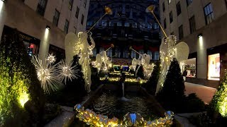 Download ⁴ᴷ⁶⁰ Early Morning Walk on Fifth Avenue & Rockefeller Center, NYC during the Holidays 2018 Video