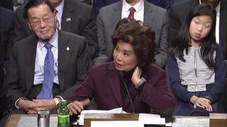 Download Senator Baldwin Questions Transportation Secretary Nominee Chao on Buy America Video