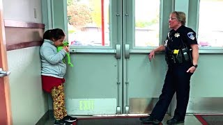 Download School Cop Sees Special Needs Student Frozen In Corner - He Drops To His Knees When He Finds Out Why Video