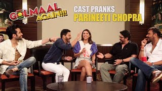 Download Golmaal Team's HILARIOUS PRANK on Parineeti Chopra | Golmaal Again Video
