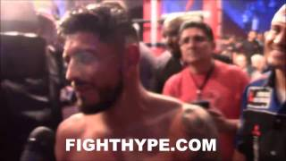 Download ABNER MARES IMMEDIATELY AFTER VICTORY OVER JESUS CUELLAR; EMBRACES WIFE AS ″WORLD CHAMPION AGAIN″ Video