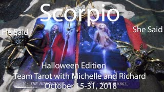 Download Scorpio NO REGRETS! October 15 to 31st 2018 He Said She Said Tarot Reading Video