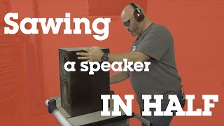 Download Sawing an ELAC speaker in half to see how it's built | Crutchfield video Video