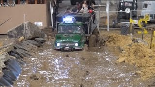 Download RC Off Road Course in Mud 4x4 Jeep Land Rover Trucks Ural ♦ Erlebniswelt Modellbau Kassel 2016 Video