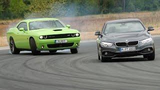 Download BMW 428i vs. Dodge Challenger SRT - Review/ Test/ Fahrbericht/ Sound Video